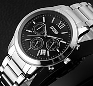Men's Chronograph Fashion Business Styel Stainless Steel Quartz Watch