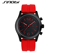 SINOBI Men's Sport Watch Wrist watch Water Resistant / Water Proof Sport Watch Quartz Silicone Band Luxury Red