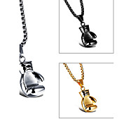 Boxing Gloves Cool Men's Stainless Steel Necklace