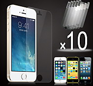 10pcs hd film écran devant transparent pour l'iphone 5 / 5s / 5c