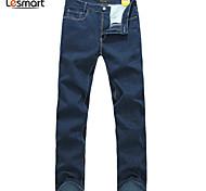 Lesmart Hommes Droite Pantalon Noir / Bleu / Vert - DX13197
