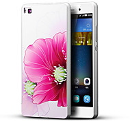 For Huawei Case / P8 Embossed Case Back Cover Case Flower Hard PC Huawei Huawei P8
