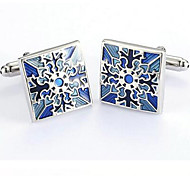 Vintage Square Blue Mens Wedding Party Cufflinks Cuff Links Groom Bestman
