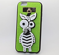 Zebra PC With A Fluffy Back Case For Iphone 6/6S