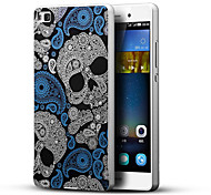 Terror Skull 3D Printing Carving Hard Back Case Ultrathin Metal Bumper for Huawei P8 Case