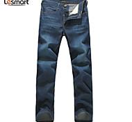 Lesmart Hommes Droite Pantalon Bleu - LW13314