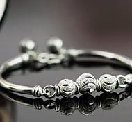 Женский Браслеты с подвесками Браслет цельное кольцо бижутерия Стерлинговое серебро Бижутерия Назначение Свадьба Для вечеринок