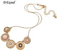D Exceed Valentine's Sale Handmade Silver Enamel Flower Necklace