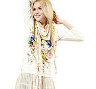 ELFSACK Femme Col Arrondi Manche Longues T-shirt Jaune - 114276