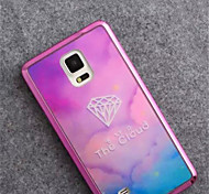 Pink Diamond Electroplating TPU Material Phone Case for Note 4/Note 5