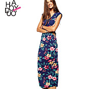 Haoduoyi Women's Deep U Sleeveless Maxi Dress - 15151A439