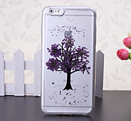 The New Embedded Herbarium Purple Tree Green Pattern TPU Material Phone Case for iPhone 6 / 6S