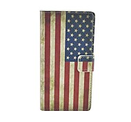 US National flag Pattern Flip Leather Case For iPhone 6/6S Cover Bags