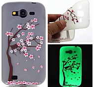 Peach Tree Luminous Dream Catcher Pattern Sofe TPU Case for Samsung Galaxy I9060/G530/G360/J3/J1 ACE/ON5/ON7