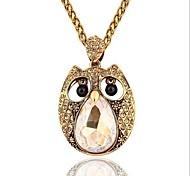 Designer Jewelry Owl Pendant Necklace Long Necklace Elegant