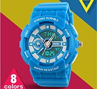 Unisex Fresh Color Analog-Digital Sports Watch Fashion Sporty Wristwatch