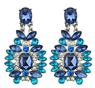 Blue Rhinestone Stud Fashion Design Hanging Earrings