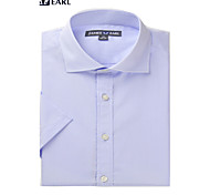 JamesEarl Men's Shirt Collar Short Sleeve Shirt & Blouse Purple - DA182022905