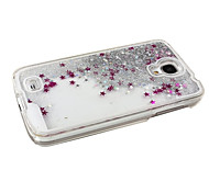 KARZEA™Dual Layer Plastic 3D Flowing Liquid Luxury Bling Glitter Stars Case for Samsung S4 i9500