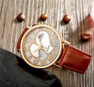 SOXY® Fashion Design Luxury Standard Unisex Black Leather Strap Couple with Heart Watch for Men Women