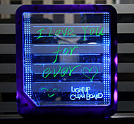 tablette lumière led message  message fluorescence tablette de fluorescence bord