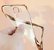 Fundas Luxury Ultra Thin Plating Crystal Transparent Clear Soft TPU Phone Case Back Cover For Huawei Mate 8