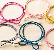 Candy Girl Fabric  Bowknot Hair Ties Hair Jewelry(Random)