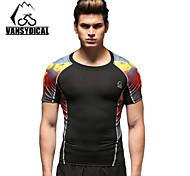 Vansydical Men's Breathable Fitness Tops Black