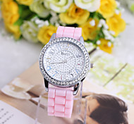 Ladies' Watch Geneva Silica Gel Color Jelly Watch