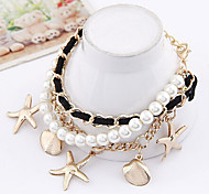 Fashion Jewelry High Quality Sweet Heart Star Pearl Bracelet