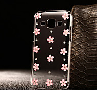 DIY Pink Flowers Pattern PC Hard Case for Multiple Samsung Galaxy S3/S4/S5/S6/S6Edge/S6EdgePlus/S7