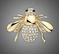 позолоченный / горный хрусталь брошь / женщин моды животное пчелы брошь / свадьба / партия 1шт