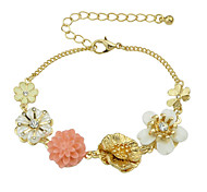 Colorful Resin Flower Charms Bracelet