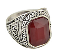 Square Shape Big Stone Ring