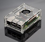 Transparent Acrylic Shell Can Be Mounted Fan And Three Fins Raspberry Pi Raspberry Pi 2B / 1B +