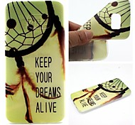 Dreamcatcher Words Phrase Pattern 0.6mm Ultra-Thin Soft Case for Samsung Galaxy S7