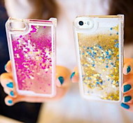 Fun Glitter Star Liquid Back Quicksand Transparent Clear PC Hard Cover For iPhone 5C