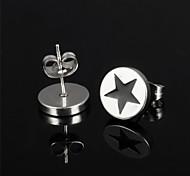 Titanium Steel Pentagram Earrings
