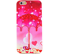 Red Umbrella IMD Printed TPU Soft Back Cover for iPhone 6/6S