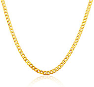 Gold Necklace Wholesale New Trendy 18K Gold Plated Chunky Curb Cuban Link Chain Necklaces Men Jewelry N50123