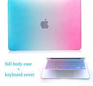 High Quality Hard Protective Matte Gradient Color Full Body Case and TPU Keyboard Cover for Macbook 12""