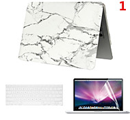 2016 Cheapest PVC MacBook Case with Keyboard Cover and Screen Flim for  MacBook Air 11.6 inch
