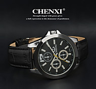 CHENXI® Мужской Наручные часы Кварцевый Японский кварц Кожа Группа Черный