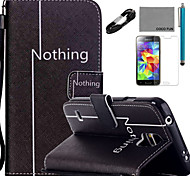 COCO FUN® Leisure Pattern PU Leather Case with V8 USB Cable Flim and Stylus for Samsung Galaxy S4/S4 MINI/S5/S5 MINI