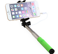 S5 Mini 13-50cm Wired Extendable Selfie Stick Foldable Mobile Phone Holder with Cellphone Clip