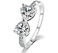 Fashion Austria Crystal CZ Diamond rings Gold Plated finger Bow Ring Wedding Engagement Rings For Women JewelryImitation Diamond Birthstone