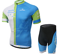 XINTOWN Ultraviolet Resistant Breathable Cycling Bike Short Sleeve Clothing Bicycle Suit Jersey + Shorts