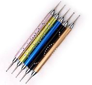 5pcs Nagel Werkzeuge Metallstab Bohrspitze Stift