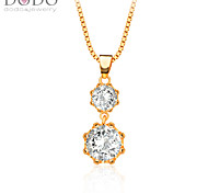 Austrian crystal Drop white simulated diamond Pendants gifts 18K Gold Plated Fashion Cubic zirconia Jewelry P30125