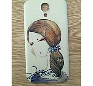 сверла и длинные волосы красоты картины шт задняя крышка чехол для Samsung Galaxy S4 / 9500